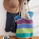 Striped Market Tote Bag Free Crochet Pattern