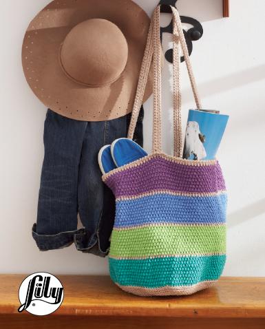 Striped Market Tote Bag Free Crochet Pattern