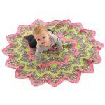 Sunburst Baby Blanket Free Crochet