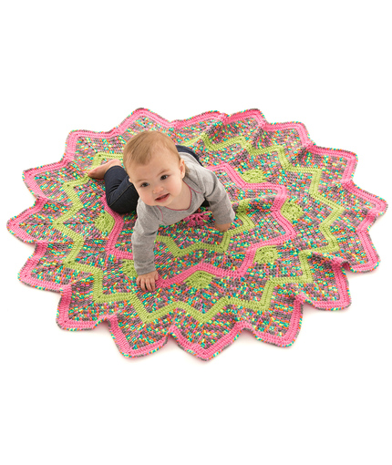 Sunburst Baby Blanket