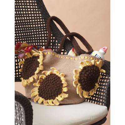 Sunflower Bag Free Crochet Pattern
