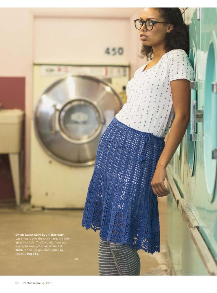 Swish Openwork lace skirt crochet pattern