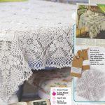 Vintage cotton tablecloth crochet pattern