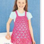 Pink Girls Summer dress crochet pattern