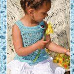 Lace baby tank crochet pattern