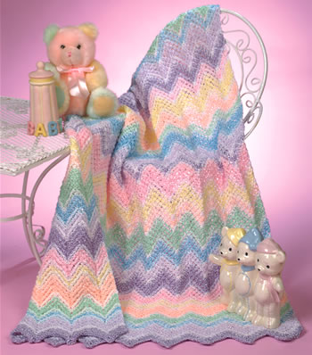 Rainbow Sherbet Baby crochet ripple stitch pattern