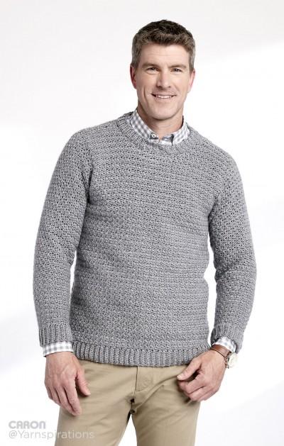 Adult Crochet Crew Neck Pullover 1