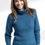 Adult Crochet Turtleneck Pullover Free Pattern