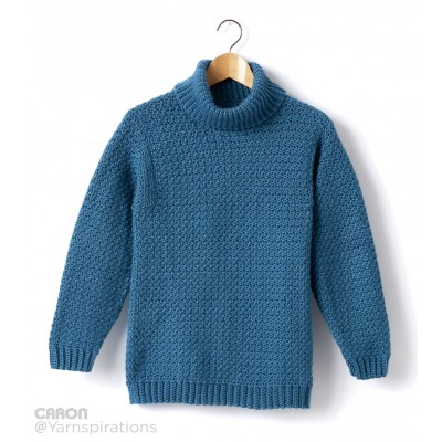 Adult Crochet Turtleneck Pullover Free Pattern