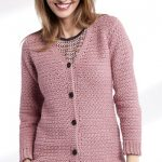 Adult Crochet V-Neck Cardigan Free Pattern
