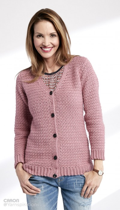 Adult Crochet V-Neck Cardigan Free Pattern ⋆ Crochet Kingdom