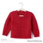 Adult Crochet V-Neck Pullover Free Pattern