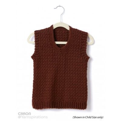 598ecc86d80c Adult Crochet V-Neck Vest ⋆ Crochet Kingdom