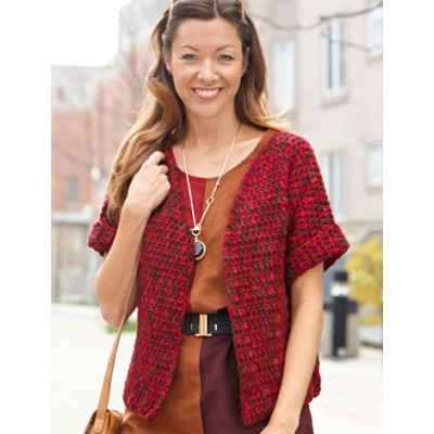 Anywhere Short Sleeved Cardi Free Crochet Pattern