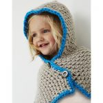 Bernat Hooded Cowl Free Crochet Pattern for Kids
