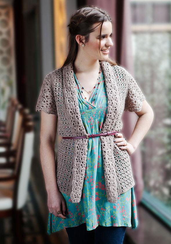 Berroco Delicata Free Crochet Cardigan Pattern