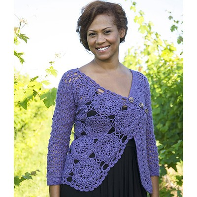 Berroco Marseille Lacy Crochet Cardigan Free Pattern