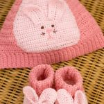 Bunny Hat & Booties Free Crochet Pattern