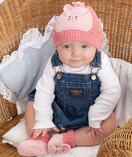 Free Crochet Bunny Hat Pattern For Baby : Bunny Hat & Booties Free Crochet Pattern ? Crochet Kingdom
