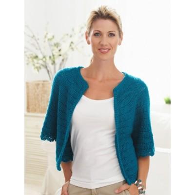 Cape Sleeved Cardi Free Crochet pattern