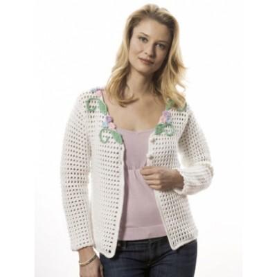 Caron Camelia Cardigan Free Crochet Pattern