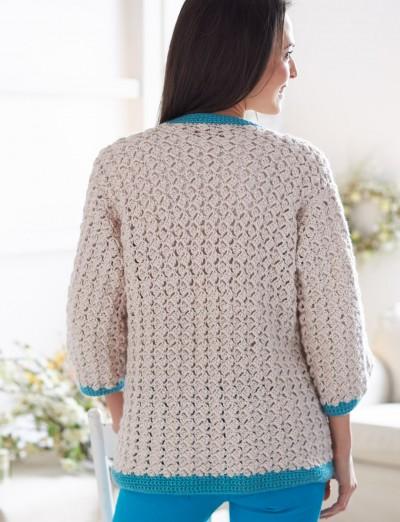Cluster Stitch Cardigan Free Crochet 1