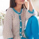 Cluster Stitch Cardigan Free Crochet