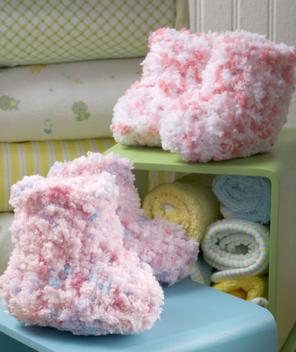 Cotton Candy Booties Free Crochet Pattern
