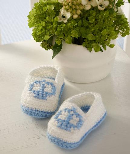 Crown Booties Free Baby Crochet Pattern