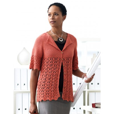 Easy Women's Cardigan Crochet Pattern by Patons
