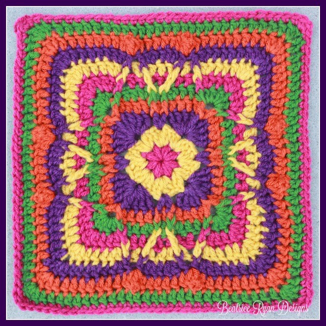 Festival of Fall Square Free Crochet Pattern ⋆ Crochet Kingdom
