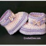 Fuzzy Booties Free Crochet Pattern
