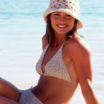 Happy Summer free string bikini crochet pattern with hat