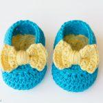 Lemon Drop Baby Booties Free Crochet Pattern