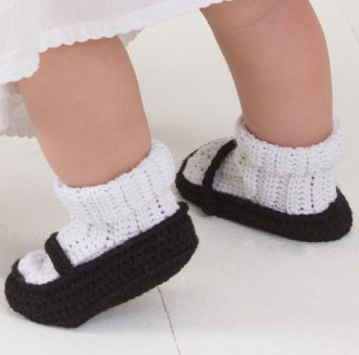 How To Crochet Baby Booties Free Patterns : free baby mary janes crochet pattern Archives ? Crochet ...