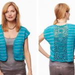 Patons Glamorous Top Free Crochet and Knitting