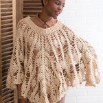 Poetry Poncho Free Crochet Pattern