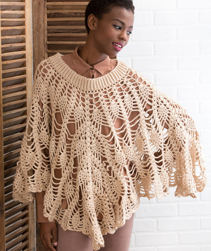 Poetry Poncho Free Crochet Pattern Crochet Kingdom
