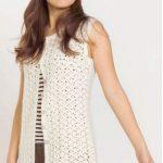Sleeveless Cardigan Vest Free Crochet Pattern