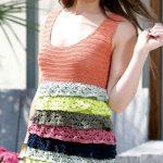 Stephanie crochet dress with ruffles free crochet pattern