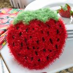 Strawberry Sparkle Scrubby Free Crochet Pattern