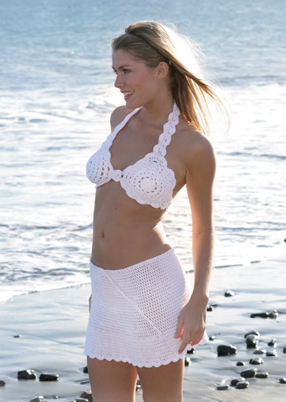 Summer Sweetheart Free bikini top and skirt pattern