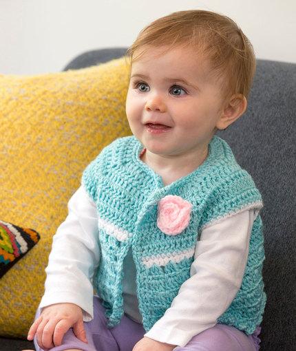 Sweet Abby's Baby Sweater Free Crochet Pattern