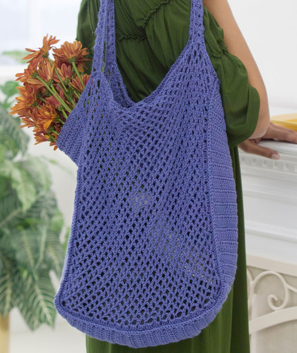 Mesh Market Bag Free Crochet Pattern