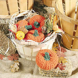 Baskets of Pumpkins Free Crochet Pattern