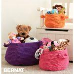 Clutter Catcher Baskets Free Easy Crochet Pattern
