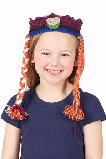 Frozen Anna Tiara Free Crochet Pattern