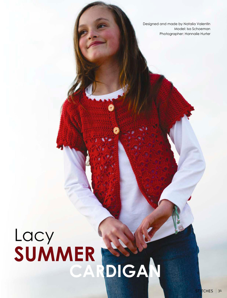 Girls Lacy Summer Cardigan Crochet Pattern Crochet Kingdom
