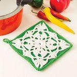 Lace Motif Pot Holder Free Crochet Pattern