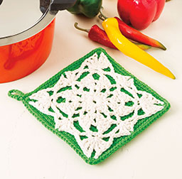 Lace Motif Pot Holder Free Crochet Pattern